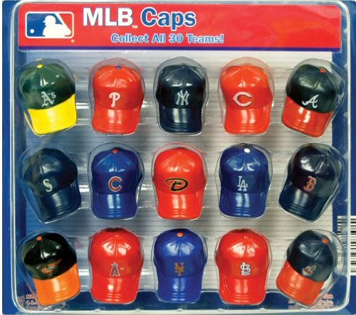 Official MLB Mini Baseball Team Logo Caps Collectibles Display - 15 Count Teams Christmas Displays In Philadelphia