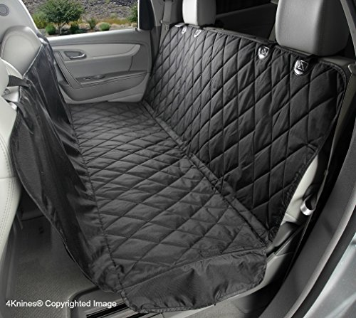 4Knines Dog Seat Cover with Hammock for Full Size Trucks and Large SUVs - Black Extra Large - USA Based Company Best Crew Cab Truck