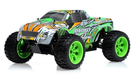 Rtr Esc Electric Rc Truck (1/10 2.4Ghz Exceed RC Electric Infinitive EP RTR Off Road Truck (Stripe Green))