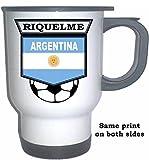 Juan Roman Riquelme (Argentina) Soccer White Stainless Steel Mug