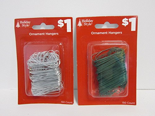 Assorted Ornament Hangers [24 Pieces] - Product Description - Assorted Ornament Hangers. This Assortment Gives You The Option Of Hanging Your Ornaments With Either Silver Or Green Hooks. There Are 150 Hooks In Each Pack. Hooks Will Make Ornament ...
