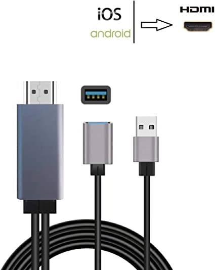 Phone to HDMI TV AV Wifi Dongle Adapter for iPad iPhone X 8 7 6S Plus Android