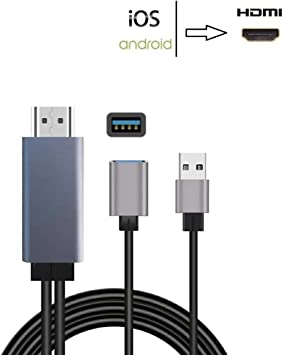 Amazon.com: SZYCD Cable Mhl para Android, cable adaptador de ...