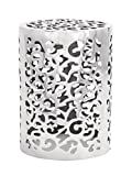 Deco 79 Aluminum Stool, 18 by 13-Inch