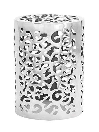 (Deco 79 Aluminum Stool, 18 by 13-Inch)