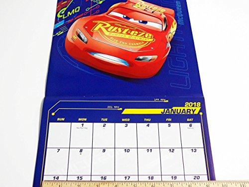 Disney Pixar Cars 3 2018 Calendar and Sandylion Sticker Bundle Photo #3