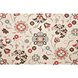 Christopher Knight Home Roxanne Telca Indoor/Outdoor Silver Floral Rug (8  x 10 )