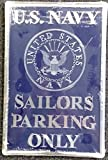Navy BLUE 12''x18'' Large Metal Embossed Parking Sign Room Wall US United States Military