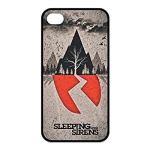 Mystic Zone Popular Rock Band SWS Sleeping with Sirens Case for iPhone 4/4S Rubber Back Covers Fits Case KEK1804 by supermalls