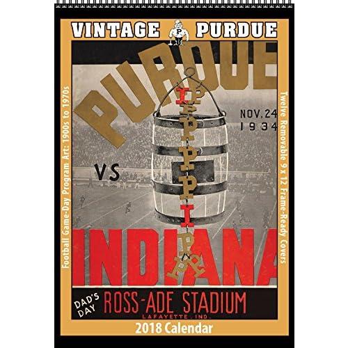 Top 2018 Vintage Purdue Boilermakers Football Calendar free shipping