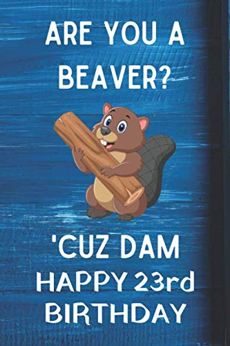 Are You A Beaver? 'Cuz Dam Happy 23rd Birthday: Awesome Birthday Gift 23rd Journal / Notebook / Diary / USA Gift (6 x 9 - 110 Blank Lined Pages)]()