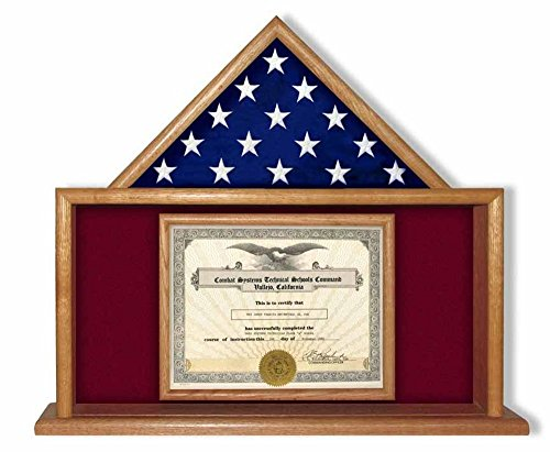 Semper-fi-Flag-Display-Case-Semper-fidelis-flag-display-cases-is-designed-to-sit-on-a-shelf-or-mantle-piece