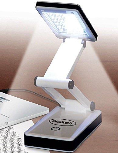 Portable LED Desk Lamp Bright Light Reading Night Travel Battery USB Laptop NEW from IdeaWorks