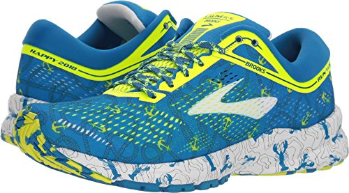 Brooks Boston Womens Nightlife Blue Launch 5 White 8wrAq8t
