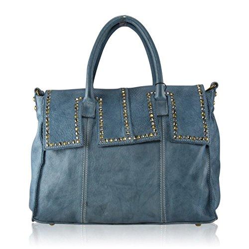 Borsa X Donna 27 Blu Shoes Zeta Pelle Mainapps In 36 Effetto Vintage Borchie H Vera 18 U1x5gv