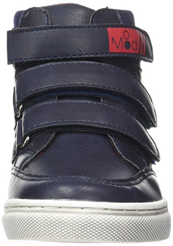 Mod8 Jungen Swaprey Hohe Hausschuhe Bleu (MARINE ROUGE)