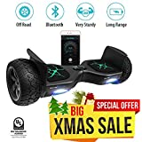 "Levit8ion Latest Xtreme Hummer 8.5"" Off Road UL 2272 Hoverboard 700w Dual Motor All Terrain Tires, Metal Fenders, LED Lights, Bluetooth, Li-Ion Battery (Black)"