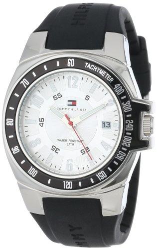 - Tommy Hilfiger Men's 1790485 Black Rubber Strap Watch