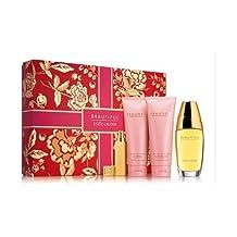 Beautiful Perfume Gift Set for Women: EDP 2.5oz, Body Lotion 3.4oz, Bath and Shower Gel 3.4oz, EDP Travel Roller Ball 0.2oz