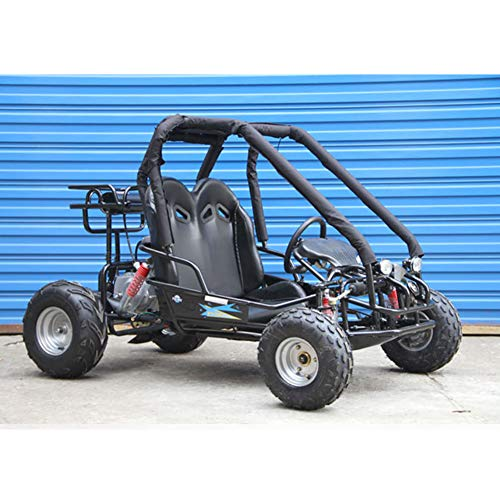 Powersportsgalaxy 110cc Pre-Teen Go Kart 2-Seater Gas Powered Off-Road Go Cart for Kids and Youths