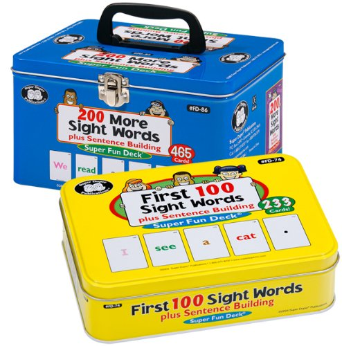 Sight Words plus Sentence Building Fun Deck Card Combo - Super Duper Educational Learning Toy for Kids