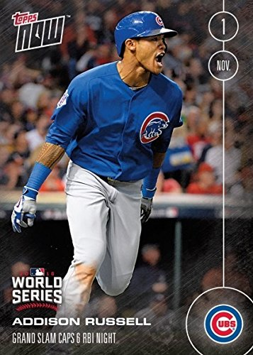 2016 Topps Now #651 Addison Russell Baseball Card - Grand Slam in World Series Game Six Caps 6 RBI Night - Chicago Cubs