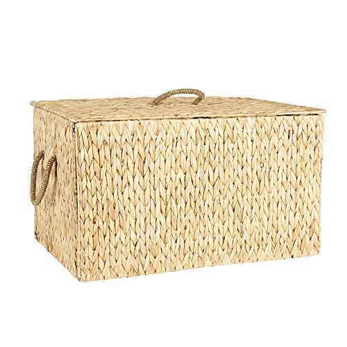 Household Essentials ML-6615 Extra Large Wicker Storage Box with Lid - 15.94