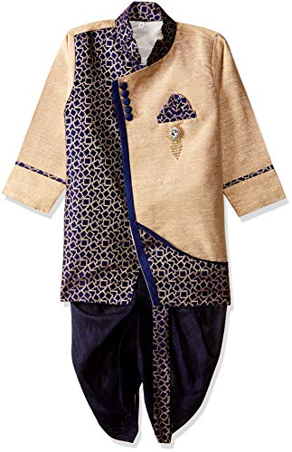 Arshia Fashions Baby-Boys' Dhoti Kurta Set Ethnic Wear 12 - 18 Months Blue ()