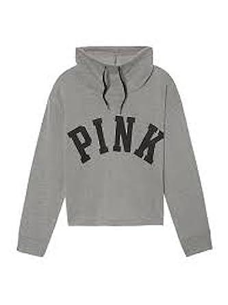 e24b0190e6200 Victoria's Secret Pink Sweatshirt Cowl Neck, Gray, Medium at Amazon ...