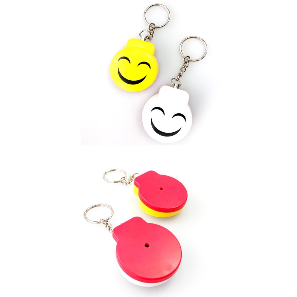 White Cute Emergency Self-Defence Electronic Personal Security Keychain Alarm