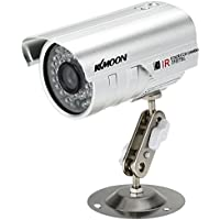 "KKmoon HD 1200TVL Surveillance Camera Security CCTV Outdoor Night Vision Waterproof 1/3"" CMOS IR-CUT NTSC System"