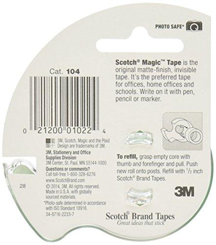 Scotch 3M Magic Tape, 1/2 x 450 Inches (Pack of 12) Photo #2
