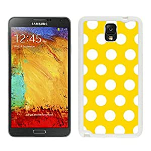 Slim cover case for Galaxy Note 3 Case, Spigen Slim Armor for Galaxy Note 3 - Retail Packaging - Soul White Polka Dot Yellow and White Samsung Galaxy Note 3 Case White Cover