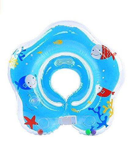 yqwel flotante Swim Ring bebé correa de hombro hinchable (PVC Anillo de natación, Azul