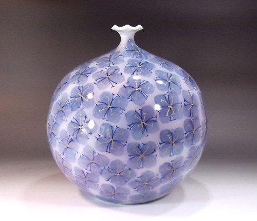 有田焼伊万里焼|花瓶陶器陶芸壺|贈答品|高級ギフト|贈り物|記念品|金彩和紙染藤井錦彩 B00HI5ZKAA