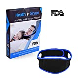 Health in Shape - Chin Strap for Snoring Stop sleep apnea Premium FDA MATERIAL (IMPORTANT FOR YOUR SKIN) Snore Stopper Adjustable Jaw Alignment Anti snore device solution anti-snore cpap