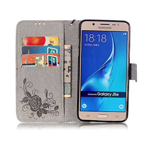 SRY-Funda móvil Samsung Estuche Samsung J510, funda con soporte y correa de mano Bulit en estuche y caja con ranura y color Slicone con cubierta en color sólido para Samsung Galaxy J510 ( Color : 2 ,  4