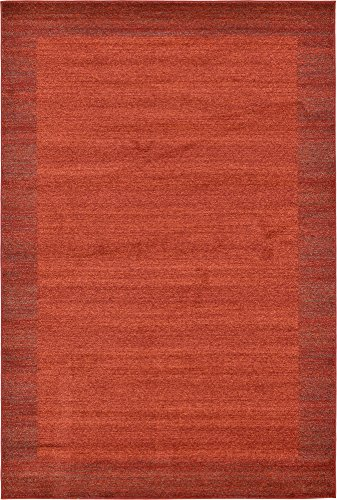 Unique Loom Del Mar Collection Contemporary Transitional Terracotta Area Rug (6′ x 9′) Review