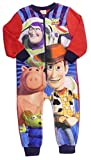 Boys Toy Story Buzz Woody And Hamm All In One Sleepsuit Pyjama Sublimated Fleece
