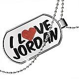 Dogtag I Love Jordan Dog tags necklace - Neonblond