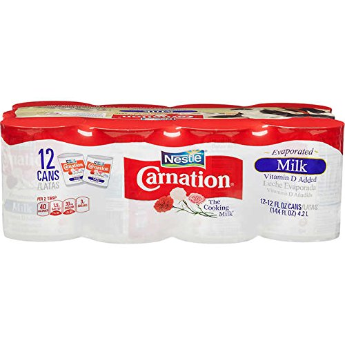 Carnation Evaporated Milk, 12 oz, 12 ct (pack of 6)