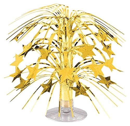 Silver Cascade Centerpiece (Party Friendly Sparkling Star Mini Cascade Centerpiece Decoration, Silver, Foil , 8
