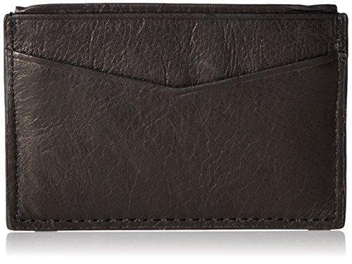 Men's Fossil 'Ingram' Leather Card Case - Black