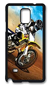 Samsung Galaxy Note 4 Case, Motocross Rugged Case Cover Protector for Samsung Galaxy Note 4 N9100 Polycarbonate Plastics Hard Case Black