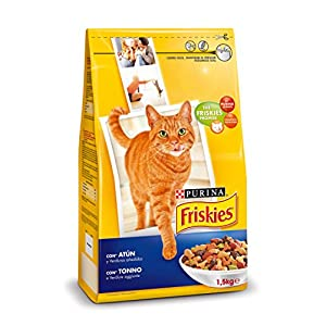 Purina Friskies Pienso para Gato Adulto Atún y Verduras 6×1,5 Kg (Total 9kg)