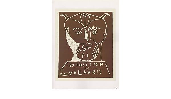 "1989 VINTAGE /""EXPOSITION DE VALLAURIS 1955/"" SATYR PICASSO Color offset Lithograp"