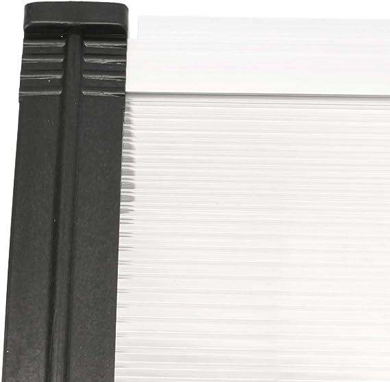 PrimeMatik - Tejadillo de protección 120x60cm Marquesina para ...