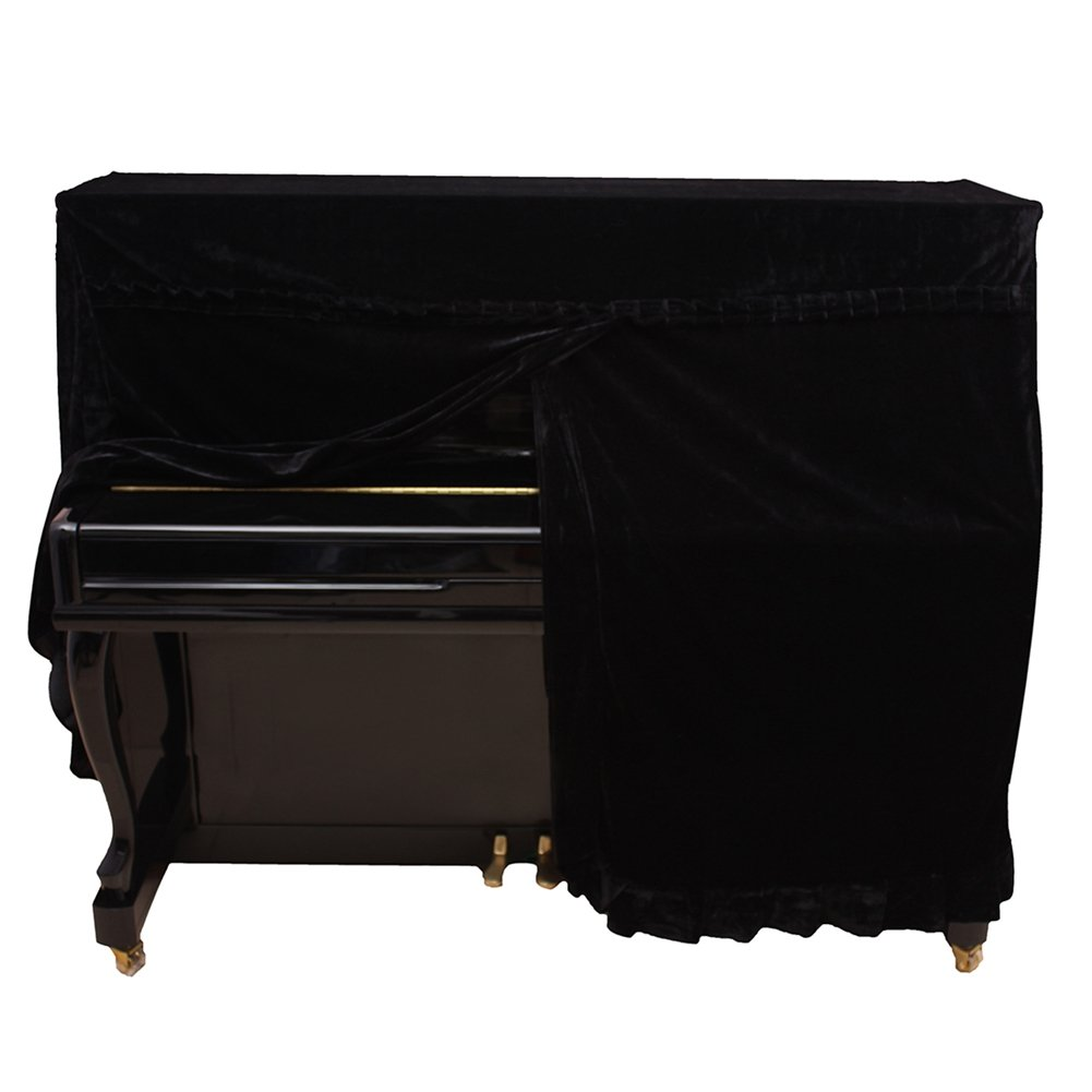 Upright Piano Cover, Colorfast Pleuche Full Piano Dust Proof Decorated Cover for 88 Keys Piano(Purple) Dilwe Dilwegbhsqd57a9-01