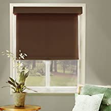 Chicology Free-Stop Cordless Roller Shade, Room Darkening Fabric, Thermal, Mountain Chocolate, 58cm x183cm