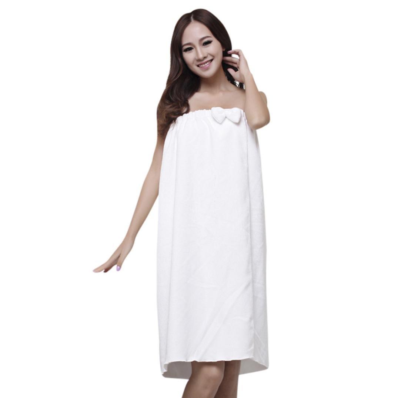 Kimanli 140x75cm Vogue Comfy Absorbent Microfiber Women's Bow-knot Shower Spa Body Wrap Bath Towel (B)